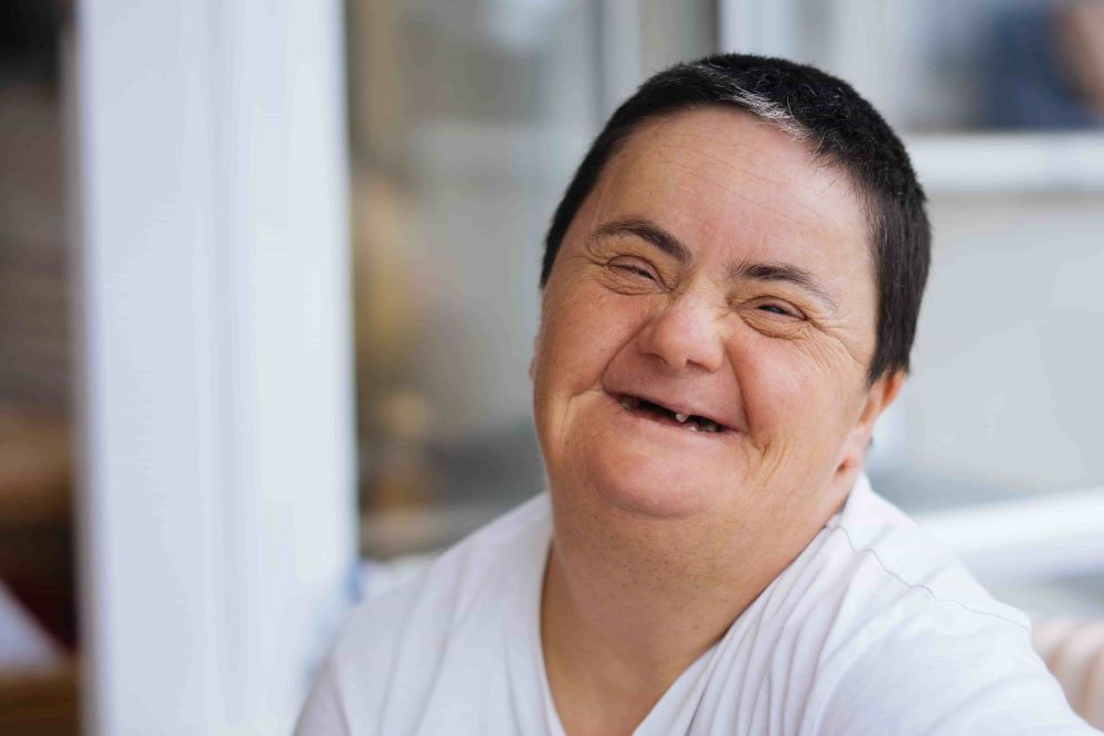 Person with Disability Smiling